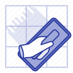 dalle, joints, sealing, tool icon