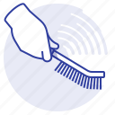 brush, paint, strip, tool icon