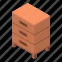 bee, cartoon, flower, hive, isometric, tree, wood