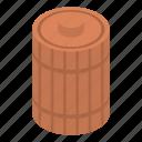 barrel, bee, cartoon, food, honey, isometric, wood