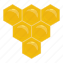 bee, cartoon, hexagon, honey, honeycomb, nature, sweet icon