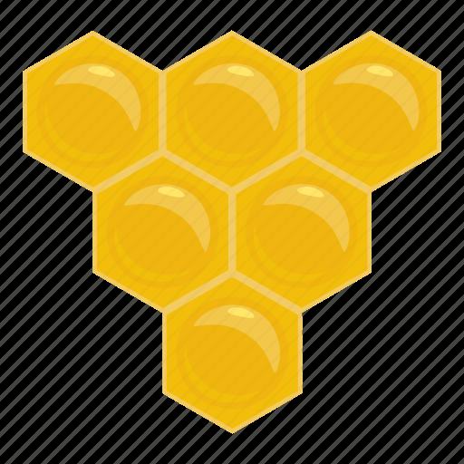 bee, cartoon, hexagon, honey, honeycomb, nature, sweet icon