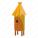 beehive, cartoon, hexagon, honey, nature, sweet, wooden icon