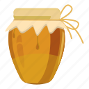 cartoon, dessert, food, glass, honey, jug, sweet icon