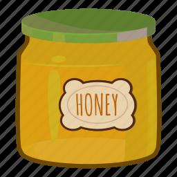 cartoon, dessert, food, glass, honey, jar, sweet icon