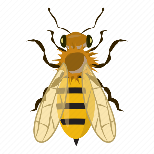 bee, cartoon, fly, honey, insect, insects, yellow icon