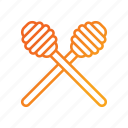 honey, honey dippers, honey spoon, honey wand icon