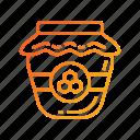 apiary, apiculture, honey, honey jar, honeycomb icon