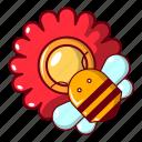 barrel, bee, beehive, blog, cartoon, flower, honey