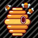 barrel, bee, beehive, blog, cartoon, hive, honey