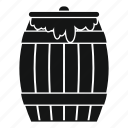 agriculture, barrel, bee, board, cask, container, honey keg icon