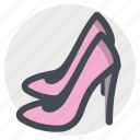 beauty, fashion, footwear, high heel, personal care, shoes, woman icon