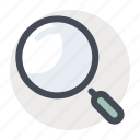 find, knowledge, magnifier, research, search, university, zoom icon