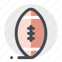 american football, ball, game, knowledge, rugby, school, sport icon
