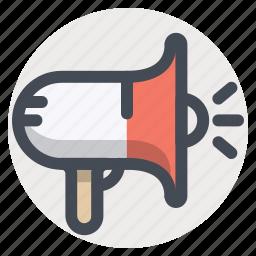 advertising, announcement, marketing, megaphone, promotion, speaker icon