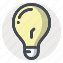 bulb, idea, imagination, innovation, lamp, light, thinking icon