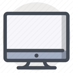 computer, device, display, laptop, monitor, screen, technology icon