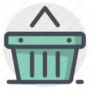 add, basket, bucket, cart, shopping, wishlist icon
