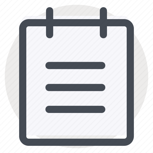 list, memo, notes, paper, reminder, schedule, task icon