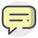 bubble, chat, chatting, communication, conversation, talk, typing icon