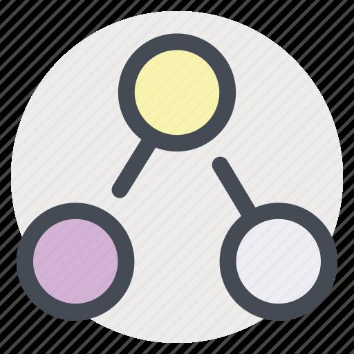 algorithm, bluetooth, data, exchange, flowchart, share, transfer icon