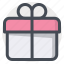 birthday, box, gift, package, parcel, surprise icon