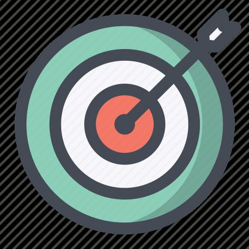 achieve, aim, dart, goal, seo, success, target icon