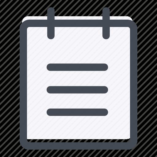 app development, list, memo, notes, reminder, schedule, task icon