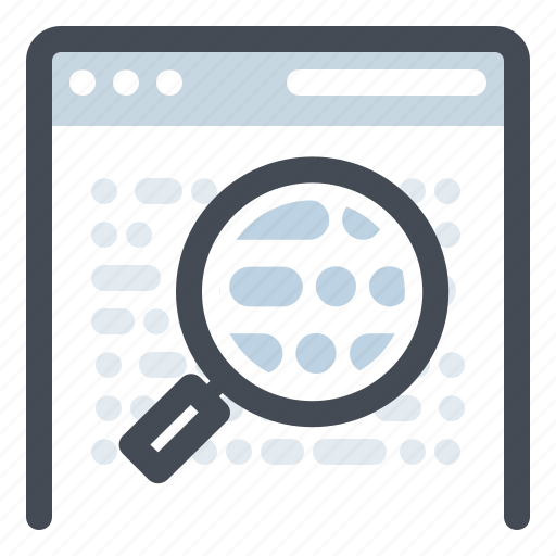 browser, development, keyword, research, search, seo, web icon