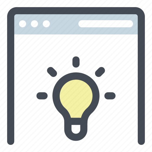 browser, idea, innovation, marketing, page, seo, web icon