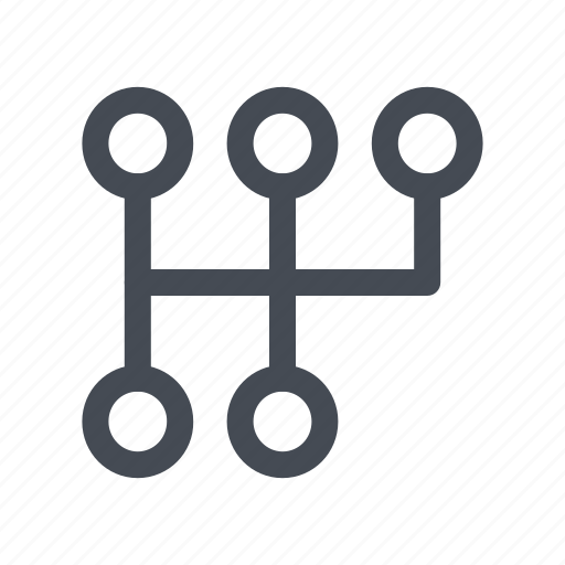 automobile, car, gear, manual, settings, transmission icon