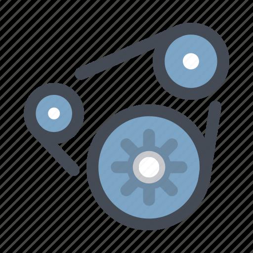 car, chain, gear, maintenance, mechanism, repair, service icon