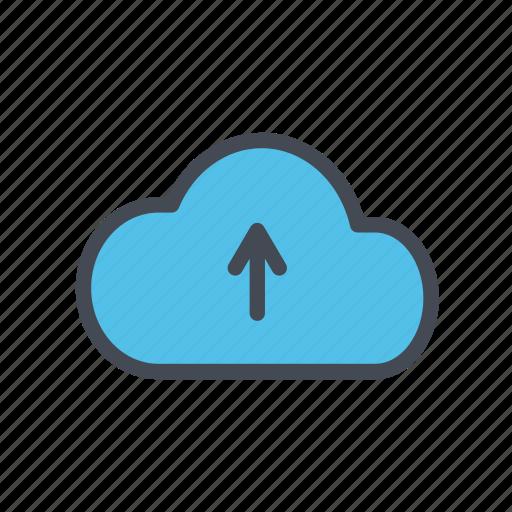 cloud, cloud storage, storage, upload icon