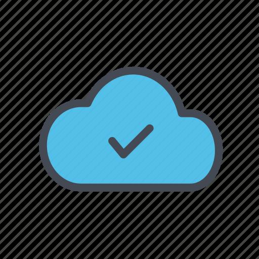 cloud, cloud storage, uploaded icon