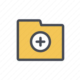 add, file, folder, storage icon