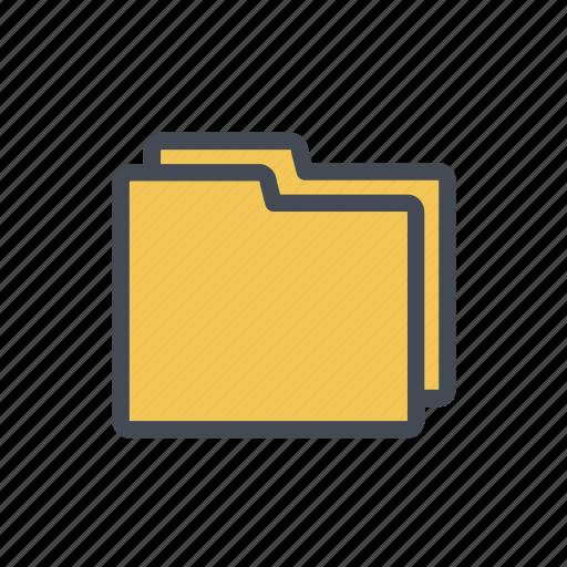 files, folders, format, storage icon