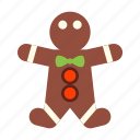 gingerbread, human, man, people, person icon