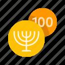 gelt, hanukkah icon