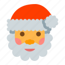 christmas, decoration, santa, year icon