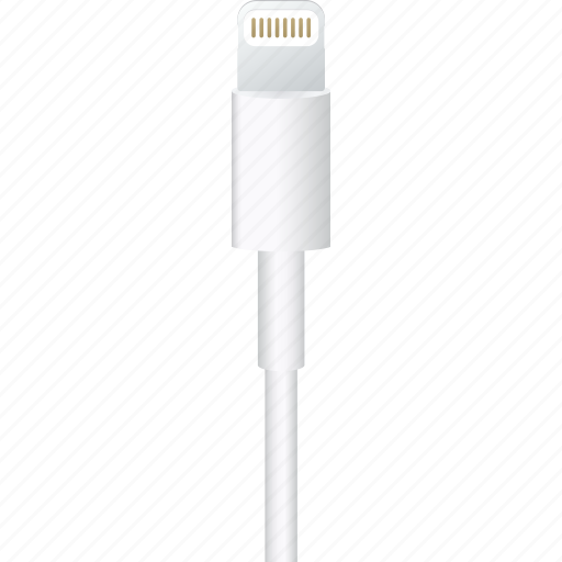 apple, cable, charger, hardware, ipad, iphone, lightning icon
