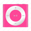 apple, ipod, mp3, multimedia, music, pink, shuffle icon