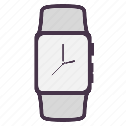 apple, apple watch, clock, device, gadget, time icon