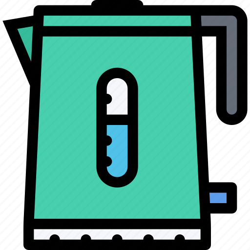 appliances, electric kettle, electronics, gadget, kitchen, technique icon
