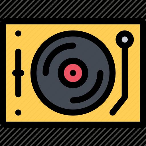 appliances, electronics, gadget, kitchen, technique, vinyl player icon