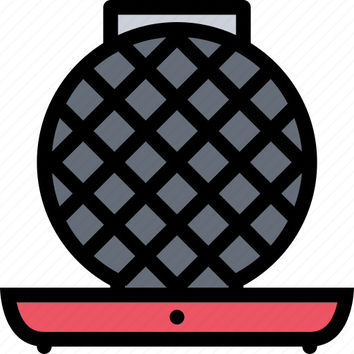 appliances, electronics, gadget, kitchen, technique, waffle iron icon