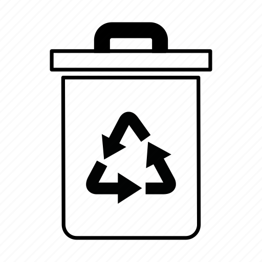bin, dustbin, garbage, garbage can, recycle, recycling, rubbish icon