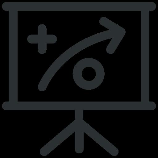 manufacturing, presentation, strategy icon icon