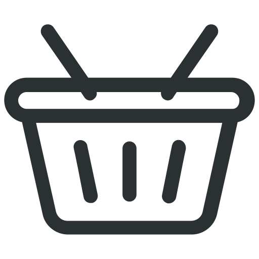 basket, market basket, shopping basket, store icon icon