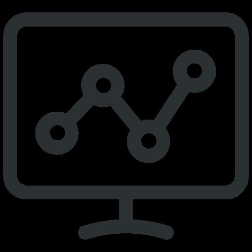 analysis, analytics, graph, lcd icon, presentation icon icon