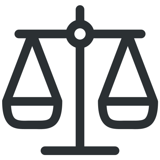 business, justice, law, legal, scale icon icon
